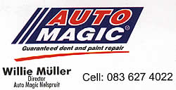 Automagic in Nelspruit Mpumalanga offers the best panelbeating, body dent and scratch repair work you could wish to find