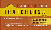 Barberton Thatchers - Mpumalanga thatchers - Mpumalanga thatching - thatched lapas - thatch repairs and renovations