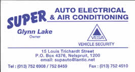 Super Auto Electrical & Air Conditiioning in Nelspruit Mpumalanga are specialists in all repairs to cars, trucks, and tractor electrical systems