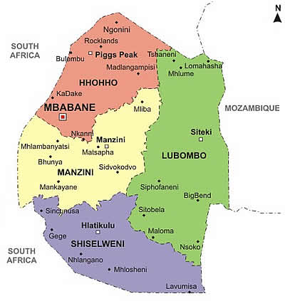 Maps Of Swaziland - Swaziland map